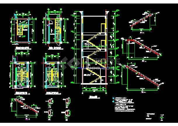 某厂房配电室结构CAD施工设计平面图纸-图1