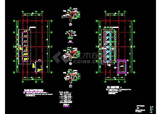 某厂房配电室结构CAD施工设计平面图纸-图2