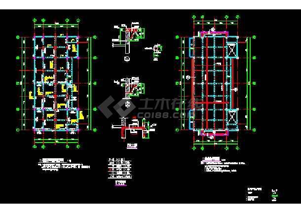某厂房配电室结构CAD施工设计平面图纸-图3