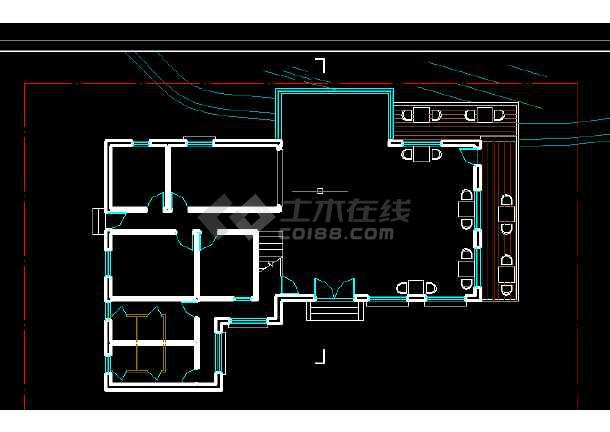 豪华咖啡厅建施方案设计全套cad图纸图片