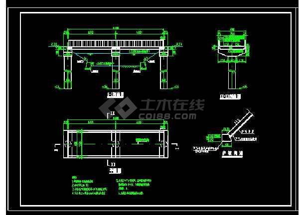 15米跨农桥cad施工CAD设计详图-图1