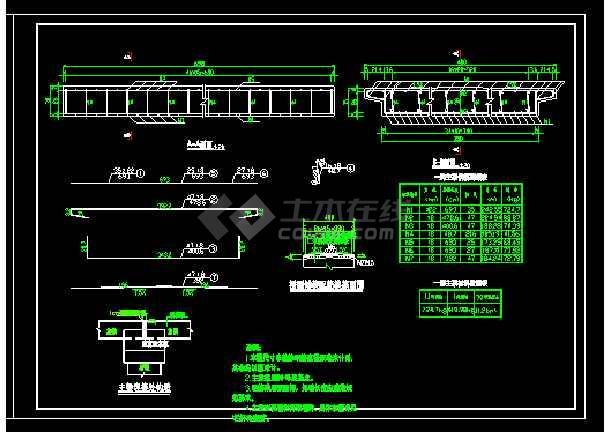 15米跨农桥cad施工CAD设计详图-图2