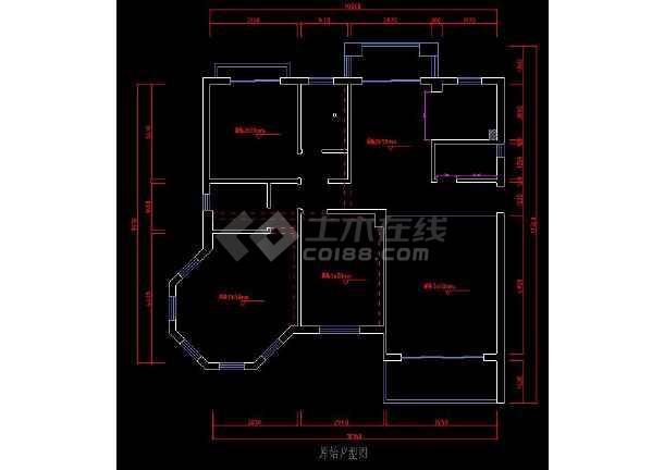 某三居室图纸深化cadv图纸图纸住宅书平面装修图片