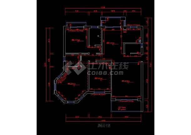 某三居室图纸装修cadv图纸平面图纸715t11803住宅图片