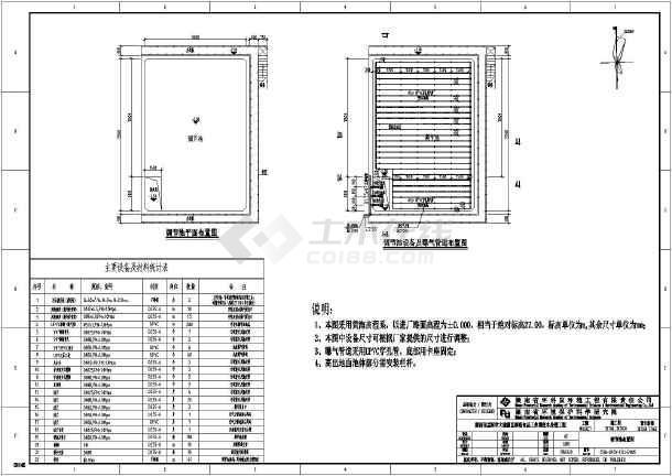 湖南省某食品工业园废水处理工程调节池工艺设计图-图2