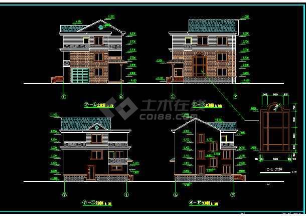 简单实用的新型房子图纸CAD建筑图纸漂亮的节目住宅+农村图片