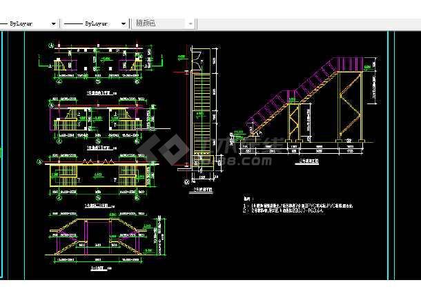 某食堂钢结构设计方案全套CAD详图-图1