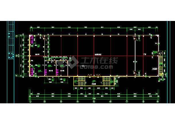 某食堂钢结构设计方案全套CAD详图-图2