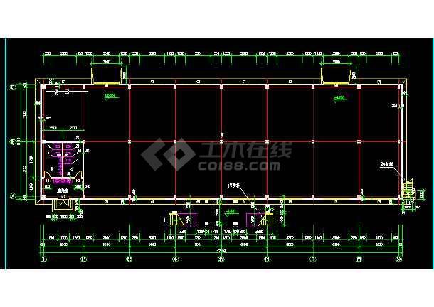 某食堂钢结构设计方案全套CAD详图-图3