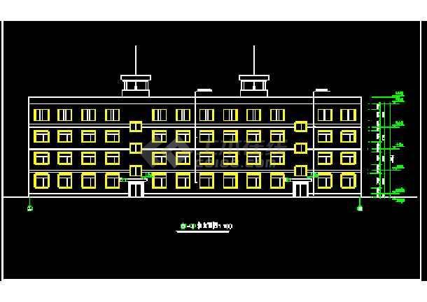 某多层自用办公楼建筑cad全套施工设计图纸-图2
