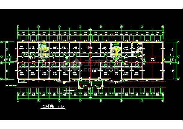 某多层自用办公楼建筑cad全套施工设计图纸-图3