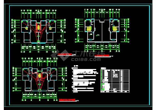 小型住宅楼电路施工cad全套图纸-图1