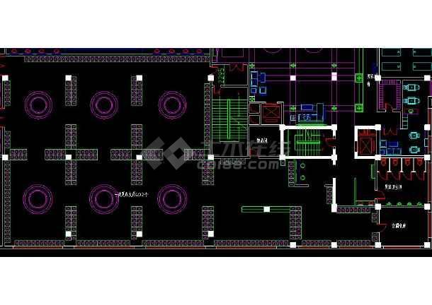 整层桑拿浴室室内装修cad平面布置施工设计图-图3