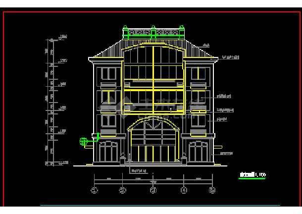 某小区多层私人住宅建筑cad施工设计图纸-图1