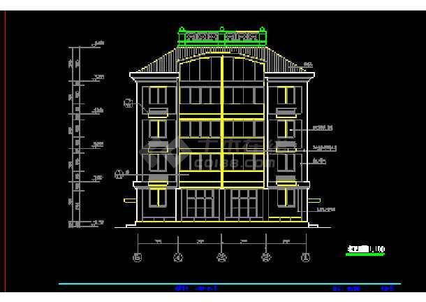 某小区多层私人住宅建筑cad施工设计图纸-图2