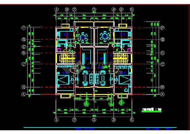 某小区多层私人住宅建筑cad施工设计图纸-图3