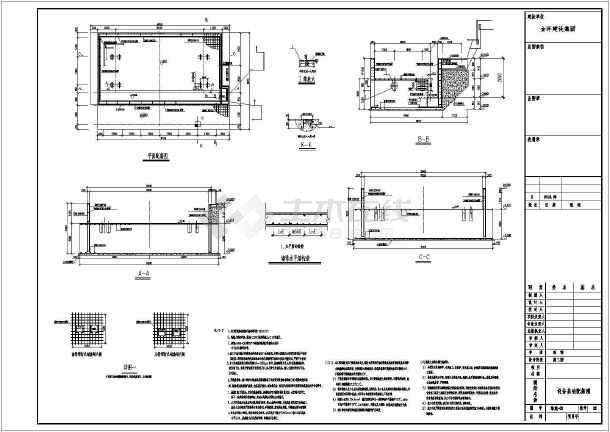 2018最新某公司1000吨大型折弯机动力基础施工图-图2