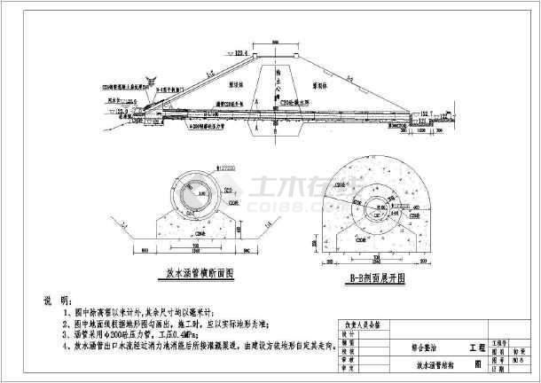某水库综合治理初步设计CAD图-图1