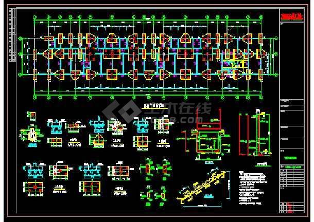 宁德某小区住宅楼结构施工图-图1
