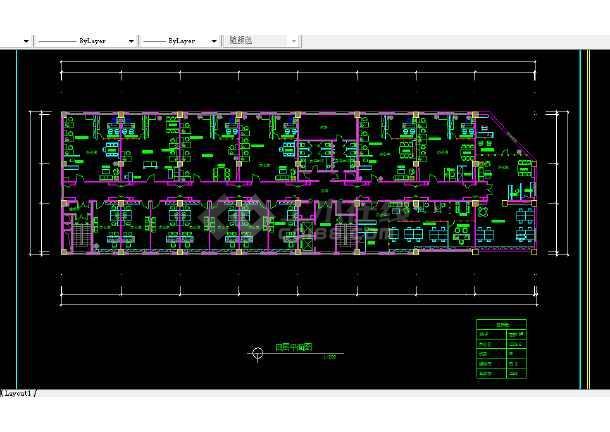 阿里郎宾馆建施方案设计全套CAD图纸-图2
