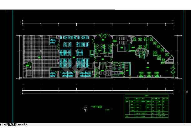 阿里郎宾馆建施方案设计全套CAD图纸-图3