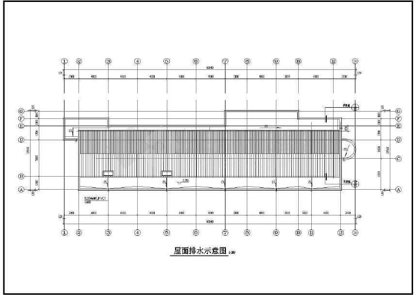 某工厂两层办公楼建筑图(标注详细)-图2