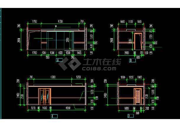 电信大楼建筑设计方案CAD全套图纸-图1