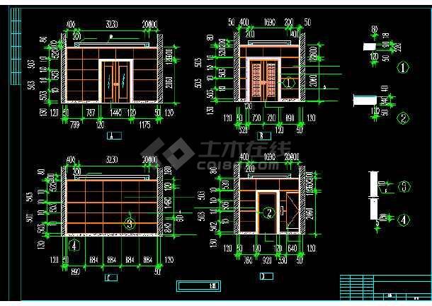 电信大楼建筑设计方案CAD全套图纸-图2