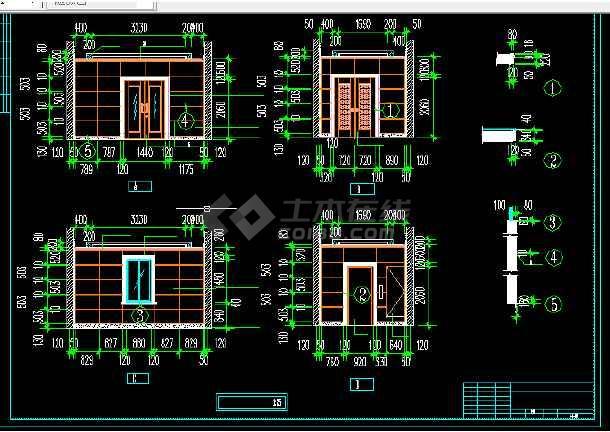 电信大楼建筑设计方案CAD全套图纸-图3