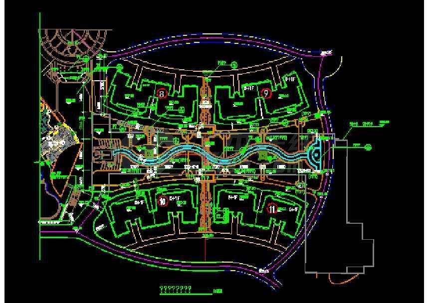 50多套居住小区规划图纸cad(最新整合)-图1