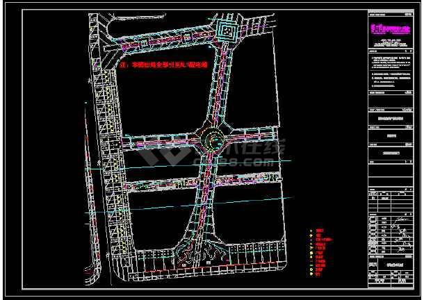 某丹尼斯广场入口街套图-图3