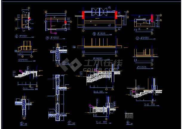 多层办公楼施工与设计方案全套CAD详图-图1