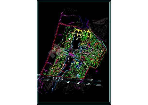 公园景观规划平面布置图-图1