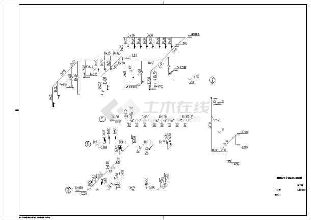 梅堰南卫生间给排水设计(含设计说明)-图1
