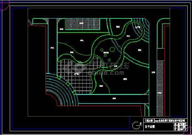 航空材料院的景观改造图设计方案及施工图-图1