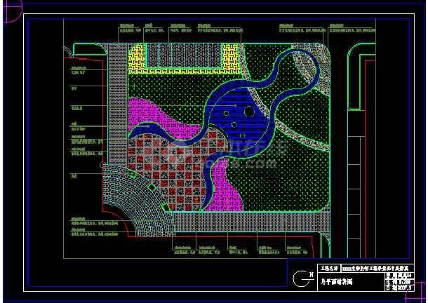 航空材料院的景观改造图设计方案及施工图-图3