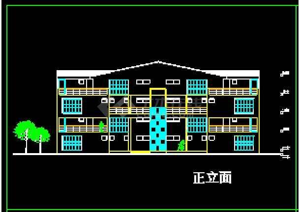 某地多层现代风格别墅建筑CAD设计方案图-图1