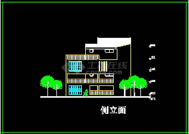 某地多层现代风格别墅建筑CAD设计方案图-图2