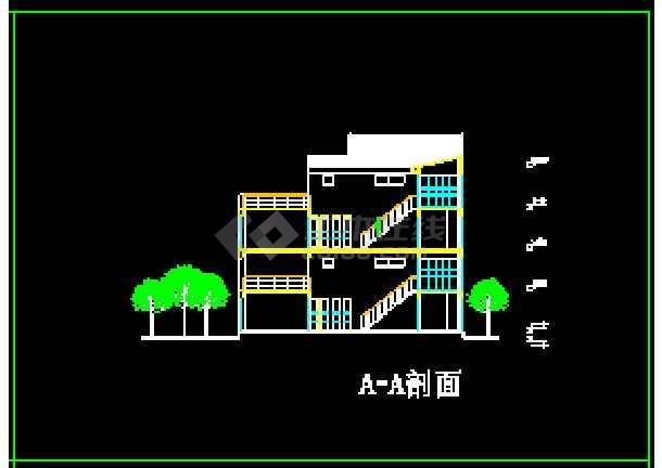 某地多层现代风格别墅建筑CAD设计方案图-图3