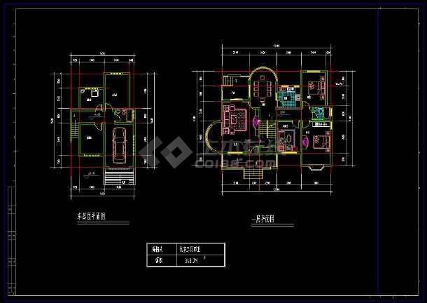 某住宅项目多层套别墅建筑设计cad方案图集-图1