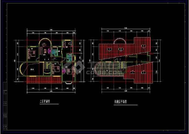 某住宅项目多层套别墅建筑设计cad方案图集-图2