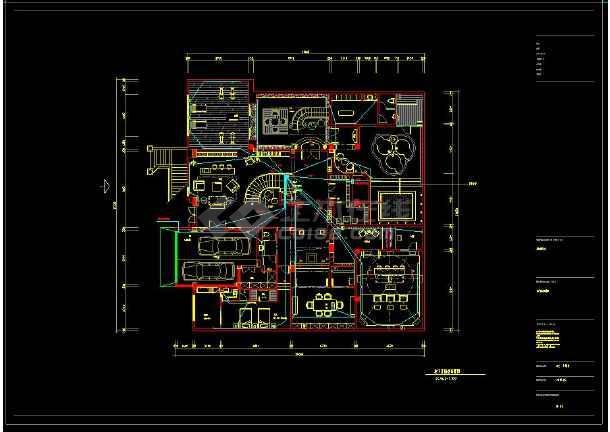 某地经典豪华别墅建筑CAD电气布置图(含设计说明)-图2