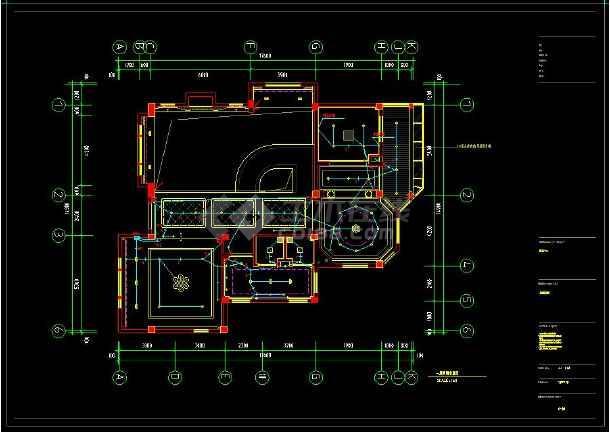 某地经典豪华别墅建筑CAD电气布置图(含设计说明)-图3