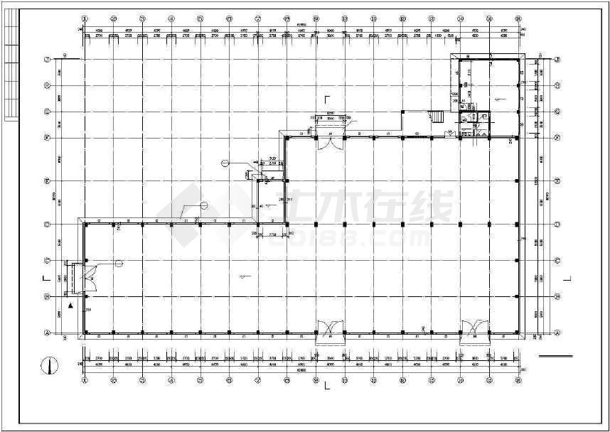 某地小型详细厂房建筑施工图(全套)