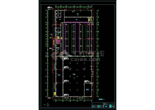 某地工业厂房给排水和消防cad设计全套图(含设计说明)-图1
