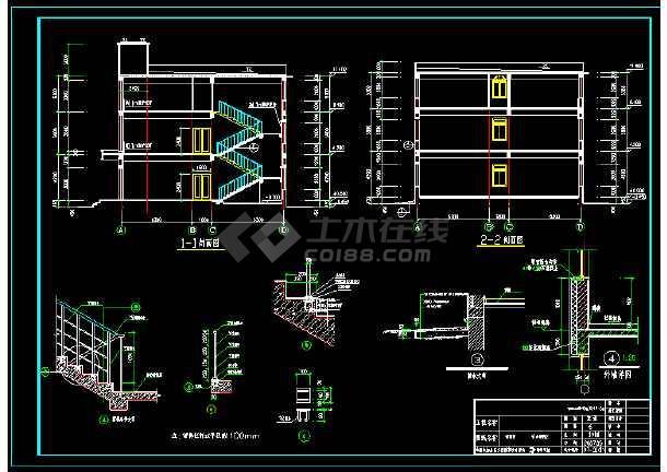 仪器仪表有限公司自动化室地热和散热器采暖图纸-图1
