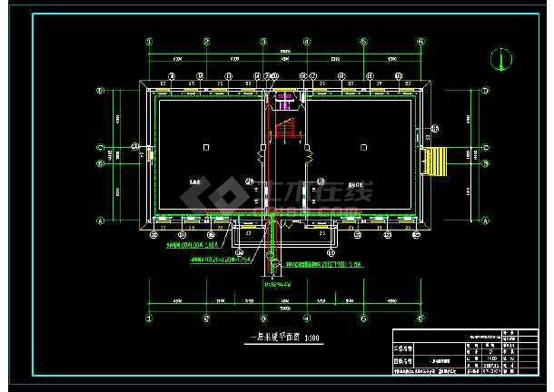仪器仪表有限公司自动化室地热和散热器采暖图纸-图2