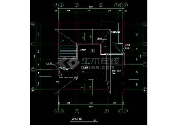 某地独立式别墅建筑设计cad户型图-图2