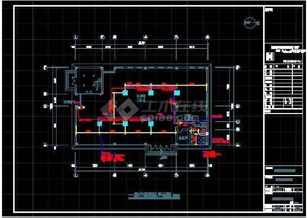 杭州某中学二层教学楼空调设计施工图-图1