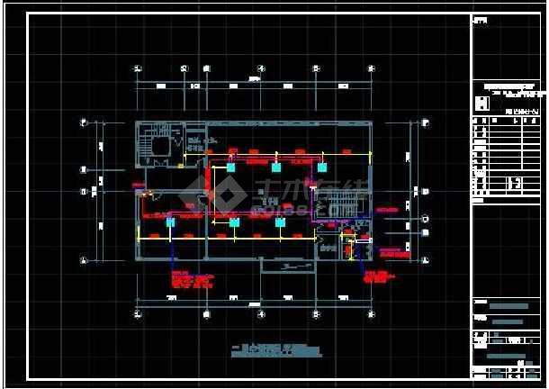 杭州某中学二层教学楼空调设计施工图-图3